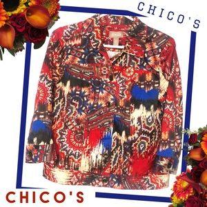 CHICOS Southwest Inspired Jacket